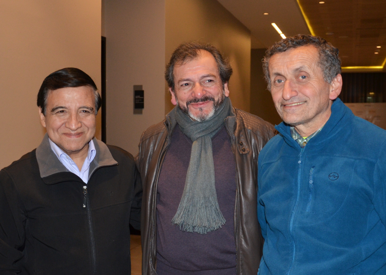 Dres. Julio Lillo, Enrique Espinoza y Osvaldo Zárate