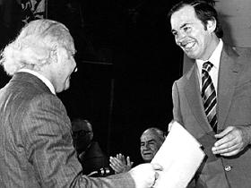 Encuentro de los Dres.Christiaan Barnard y Jorge Kaplán en 1979