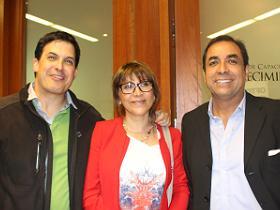 Dres. Gonzalo Lezaeta, Susana Stuardo y Gerardo Neumann