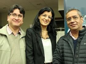 Dres. Hugo Martínez, Silvia Makhoul y Carlos Astudillo