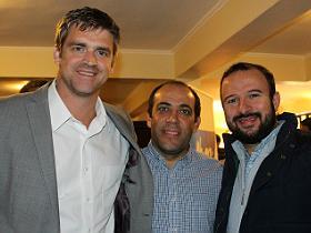 Dres. Manuel Pellegrini, Juan Pablo Ibarra y Rodrigo Melo