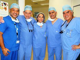 Dres Carlos Chávez, Philip Ransley, Mónica Quitral, José Antonio Mena y José Yañez