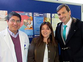 Dr. Fernando González, Sra. Pilar Flores y Sr. Luis Alberto Lindermeyer