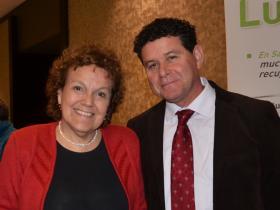 Dra. Rosa Valderrama y Sr. Danilo Giusto