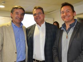 Dres. Pedro Pavéz, Michael Nogler y Miguel Ángel Vivanco